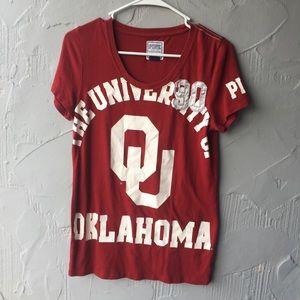 VS PINK Oklahoma university tshirt large